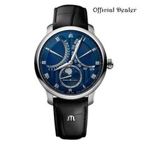 Maurice Lacroix Acero 43mm Automático MP6608-SS001-410-1 Stainless Steel, Blue calf leath Strap nuevo