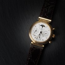 IWC Da Vinci Perpetual Calendar Yellow gold 39mm White No numerals