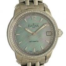 Davosa Ladies Delight Stahl Diamond Perlmutt Automatik Armband...