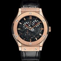 Hublot Classic Fusion Ultra Thin Skeleton King Gold
