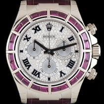 Rolex 18k W/Gold Unworn Pavé Diamond Dial Daytona B&P...