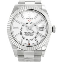 Rolex Sky-Dweller  Model 326934 Stainless with White Dial