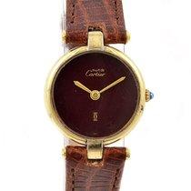 Cartier Vermeil 925 Silver/Gold Plated Quartz Ladies Watch