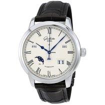 Glashütte Original Senator Ewiger Kalender neu Automatik Uhr mit Original-Box und Original-Papieren 100-02-22-12-05