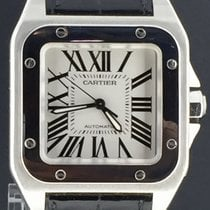 Cartier Santos 100 MidSize Box&Papers/2007,Steel 33MM Automati...