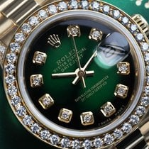 Rolex Lady-Datejust Yellow gold 26mm Green No numerals United States of America, New York, New York