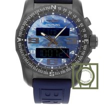 Breitling Cockpit B50 Night Mission Blue MOP Rubber