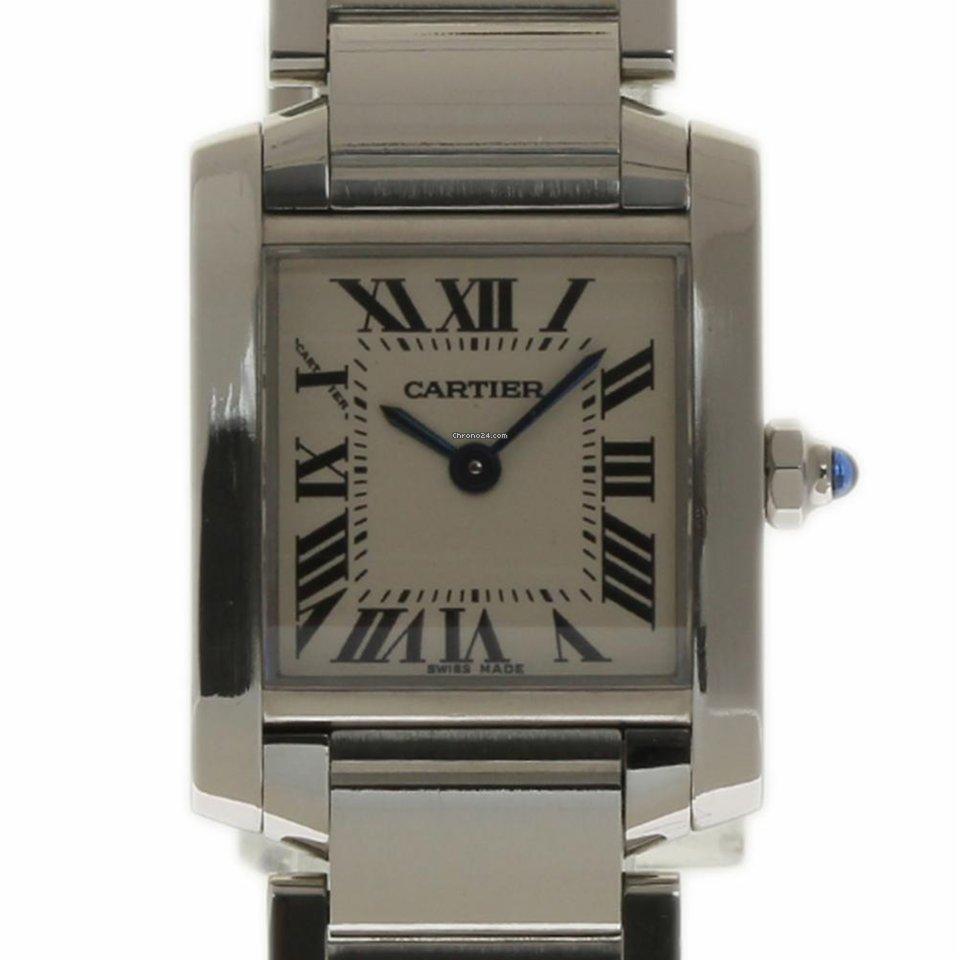 b561da7ce1f Cartier Tank Francaise Small Stainless Steel White W51008Q3 2... za ...