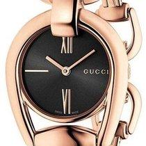 edd35ca22d5 Gucci Horsebit Gold Steel Roman numerals. Gucci Horsebit Black Dial Rose  Gold Women s Watch YA139507