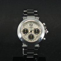 Cartier Pasha C Steel 36mm Silver Arabic numerals