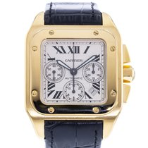 Cartier Santos 100 Yellow gold 41mm Silver United States of America, Georgia, Atlanta