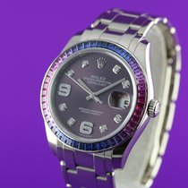 Rolex Pearlmaster Or blanc 39mm Violet