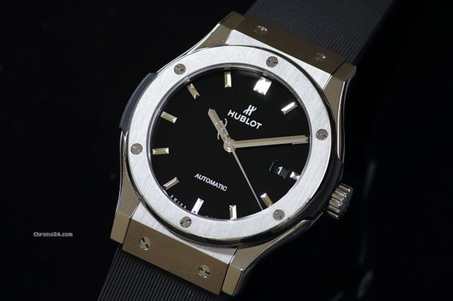 best website 39881 ca10c Hublot Classic Fusion Black shiny Titanium 542.NX.1170.RX