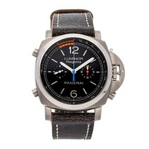 Panerai Luminor 1950 Regatta 3 Days Chrono Flyback usados 47mm Negro Cronógrafo Función flyback Caucho