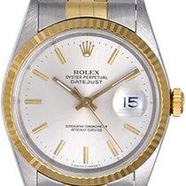 Rolex Datejust Or/Acier 36mm Argent Sans chiffres