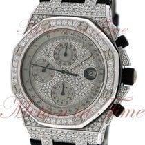 Audemars Piguet White gold Automatic No numerals 42mm new Royal Oak Offshore Chronograph