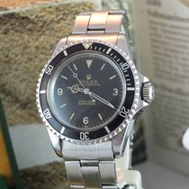 Rolex Silver Automatic 40mm pre-owned Submariner (No Date)