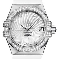 Omega White gold Automatic Mother of pearl 35mm new Constellation