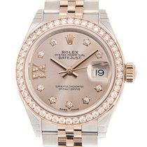 勞力士 Lady Datejust 18 K Rose Gold With Diamonds Pink Automatic...