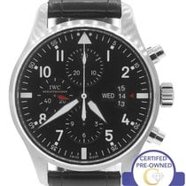 IWC MINT IWC Pilot Chronograph Black 43mm 3777 IW377701 377-01...