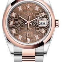 Rolex Gold/Steel 36mm Automatic 126201 Jubilee Chocolate Diamond Oyster new United States of America, New York, Airmont