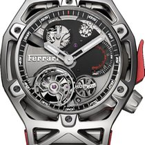 Hublot Techframe Ferrari Tourbillon Chronograph Titânio 45mm Sem números