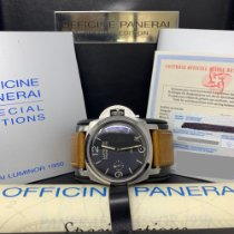 Panerai pre-owned Manual winding 47mm Black Sapphire Glass 10 ATM