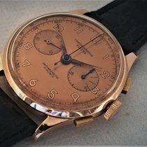 Chronographe Suisse Cie Aur roz Armare manuala De culoarea şampaniei Arabic 38mm folosit