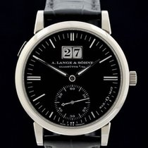 A. Lange & Söhne White gold Automatic Black No numerals 37mm pre-owned Langematik