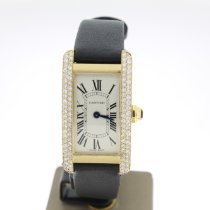 Cartier Tank Américaine occasion 19mm Blanc Or jaune