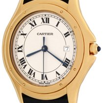 Cartier Cougar Yellow gold 33mm White Roman numerals United States of America, Texas, Dallas
