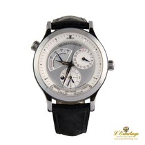 Jaeger-LeCoultre Master Geographic usados 38mm Plata Fecha GMT Piel