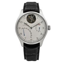 IWC Platinum Automatic Silver 44.2mm new Portuguese Tourbillon