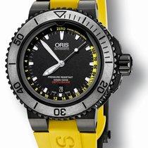 Oris Aquis Depth Gauge Black Yellow