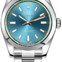 Rolex 116400gv Blue Staal 2021 Milgauss 40mm nieuw