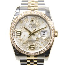 勞力士 (Rolex) Datejust Gold And Steel Silver Automatic 116243SVF...