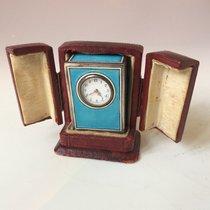 Emaille-Uhr Gut Silber 21mm Handaufzug Deutschland, Hamburg