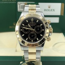 Rolex 116523 Daytona 2 Tone Gold 18k Steel Black Dial 2015 w card