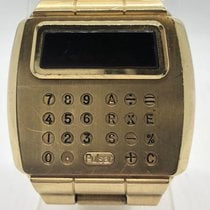 Pulsar Vintage Digital Led Calculator Solid 18k Yellow Gold...