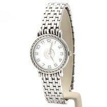 Hermès Sellier Stahl 24mm Weiß Arabisch