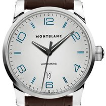 Montblanc Steel Automatic Silver Arabic numerals 42mm new Timewalker