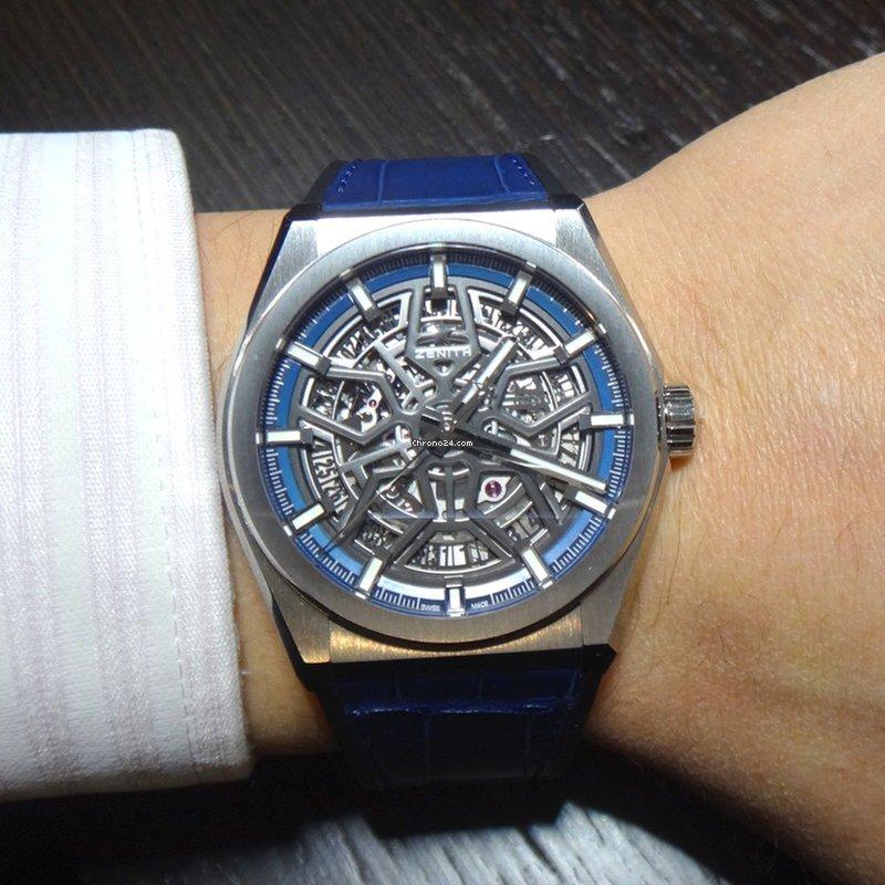 Zenith Defy Classic Titanium Skeleton Dial Blue Leather