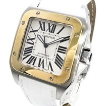 Cartier Santos 100 Steel 38.5mm White