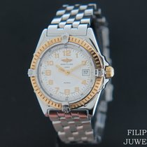 Breitling Wings Lady Gold/Steel 31mm Champagne