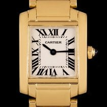Cartier Tank Française Yellow gold 20mm Silver Roman numerals United Kingdom, London