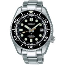 Seiko Marinemaster Steel Black No numerals
