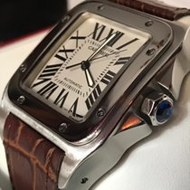Cartier Santos 100 Steel 43mm White