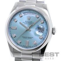 Rolex Day-Date 36 Platine 36mm Bleu