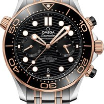Omega Seamaster Diver 300 M Gold/Steel 44mm Black United States of America, New York, Airmont