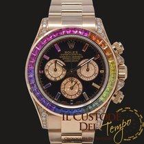 Rolex Daytona Ouro rosa 40mm Preto Sem números